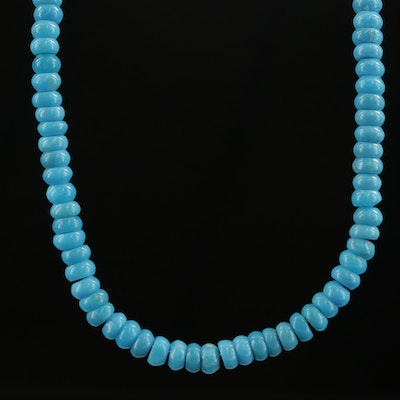 Beaded Turquoise Necklace with 10K Clasp