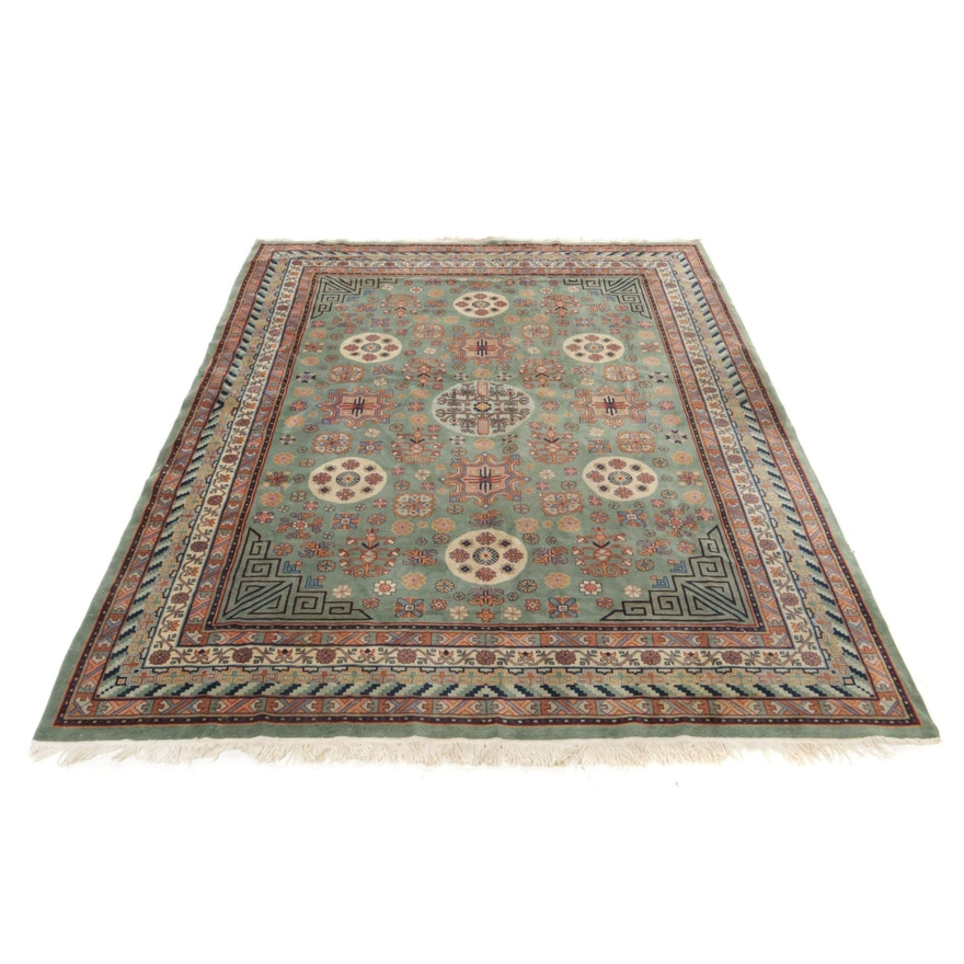 8'10 x 12'6 Hand-Knotted Sino-Persian Kashan Room Sized Rug