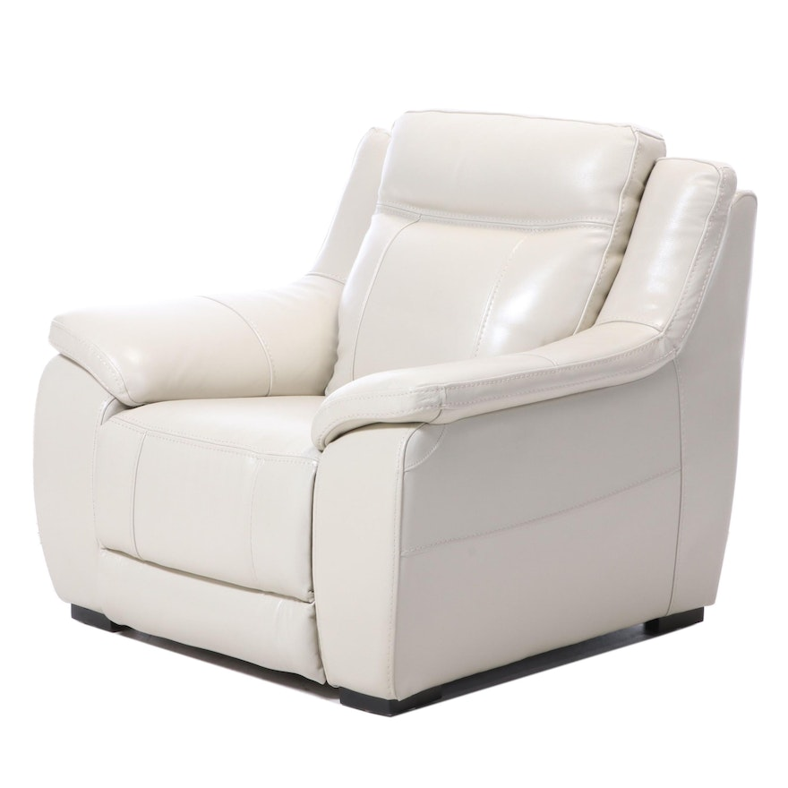 American Signature Leather Electric Reclining Armchair