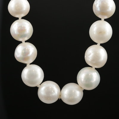Pearl Necklace with 14K Yellow Gold Clasp