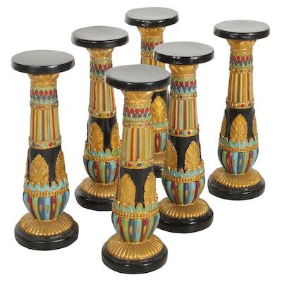 "Egyptian Style ""Luxor Pedestal"" Columns"