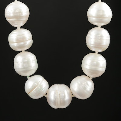 Pearl Necklace with 10K Yellow Gold Clasp