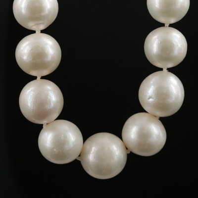 Pearl Graduating Necklace with 14K Yellow Gold Clasp