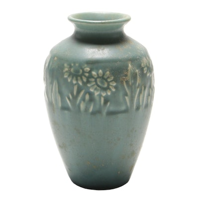 Rookwood Pottery Arts and Crafts Matte Glaze Sunflower Vase, 1946