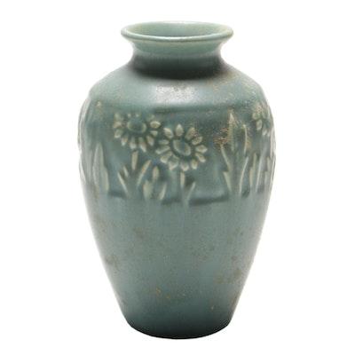 Rookwood Pottery Arts and Crafts Matte Glaze Sunflower Vase, 1946