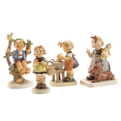 "Goebel Porcelain Hummel Figurines Including ""Apple Tree Boy"" and ""Behave!"""