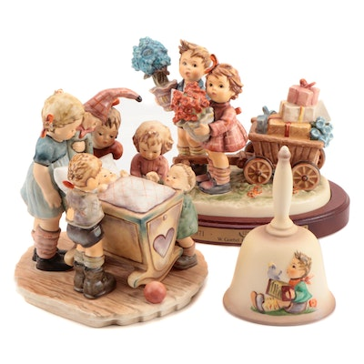 Goebel Century Collection Porcelain Hummel Figurines with First Issue Bell