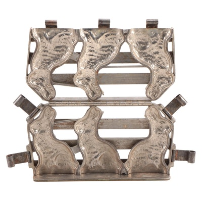 Metal Chocolate Rabbits Mold, Early 20th Century