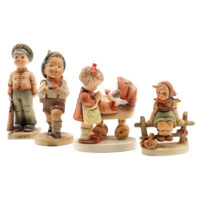 "Goebel Porcelain Hummel Figurines Including ""Soldier Boy"" and ""Doll Mother"""