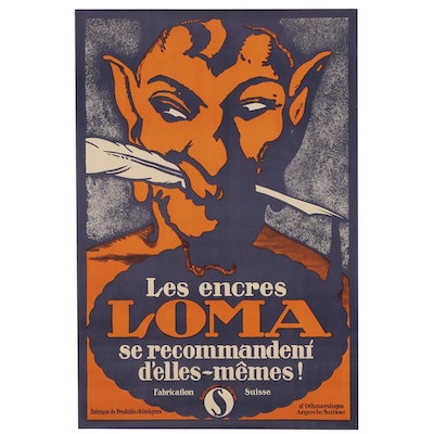 "Advertising Poster ""Les Encres Loma"", 1928"