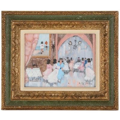 Luigi Cagliani Oil Painting of a Ballroom Scene