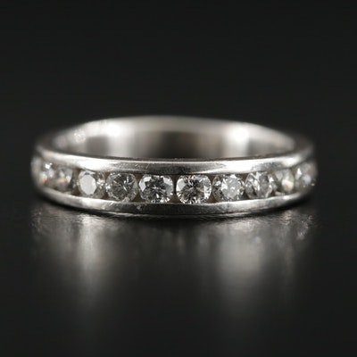 14K White Gold 0.50 CTW Diamond Band