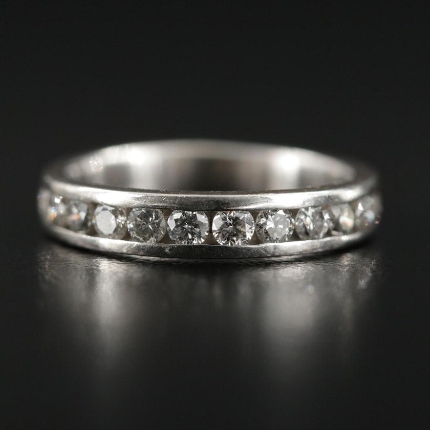 14K White Gold 0.50 CTW Diamond Band