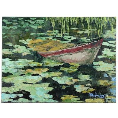"James Baldoumas Oil Painting ""Abandoned"""
