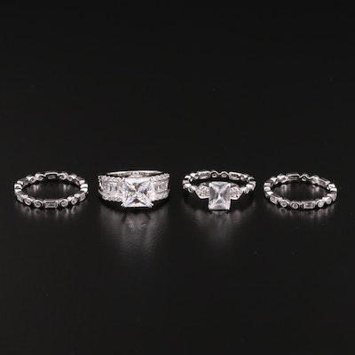 Collection of Sterling Silver Cubic Zirconia Rings