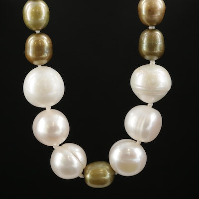 Strand of Graduated Pearls with 14K Clasp
