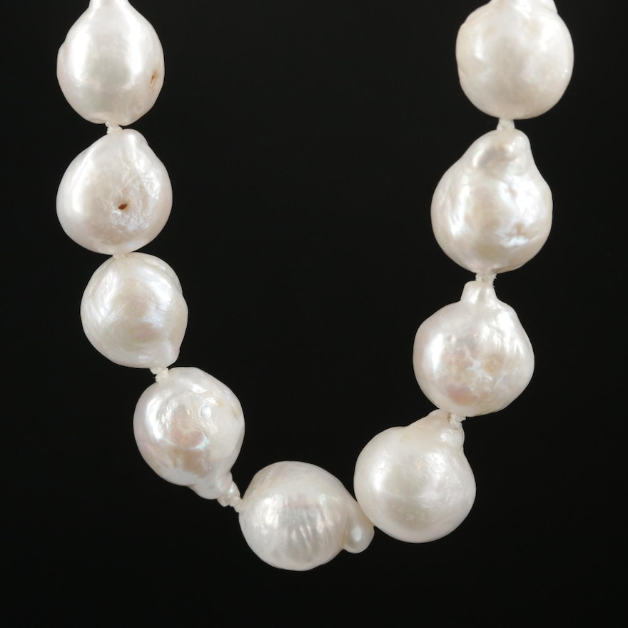Strand of Baroque Pearls with 14K Clasp