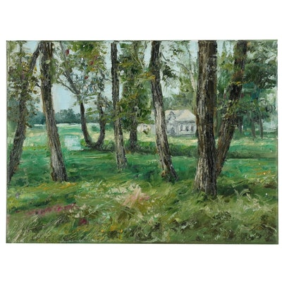 "Garncarek Aleksander Oil Painting ""W drzewach"""