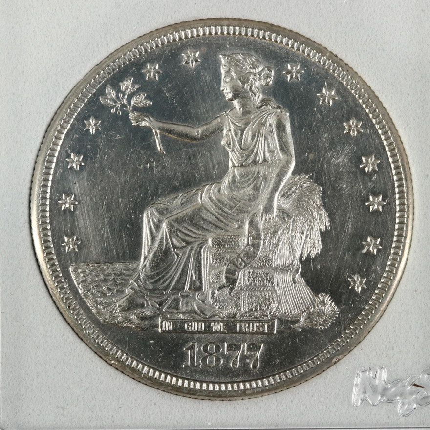 1877-S Trade Silver Dollar