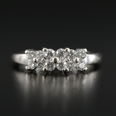 14K White Gold 0.42 CTW Diamond Ring