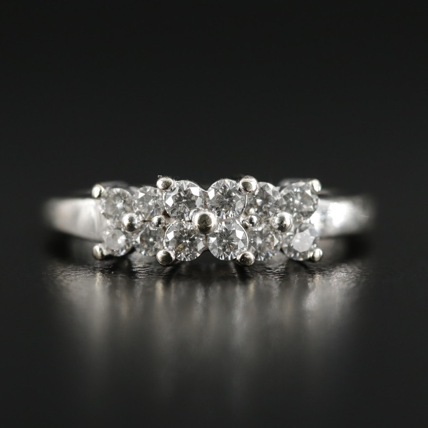 14K White Gold 0.42 CTW Diamond Ring