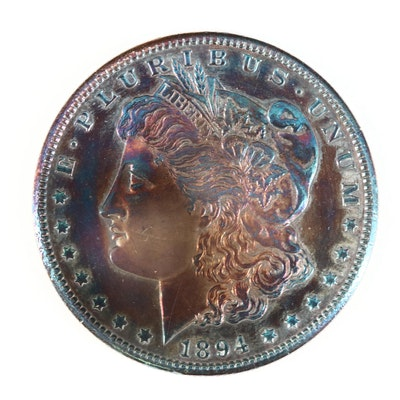 1894-S Toned Morgan Silver Dollar