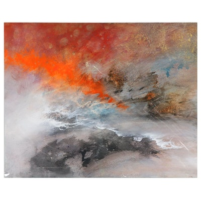 "David Senecal Acrylic Painting ""09-08-2017 B"""