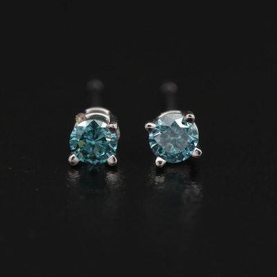 14K Gold 0.19 CTW Diamond Stud Earrings