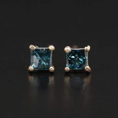 14K Yellow Gold 0.49 CTW Diamond Stud Earrings