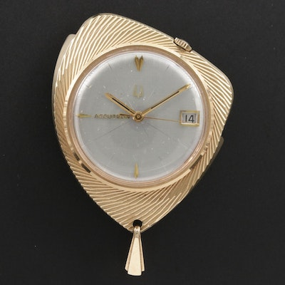 1967 Bulova Accutron Gold Tone Pendant Watch, Vintage