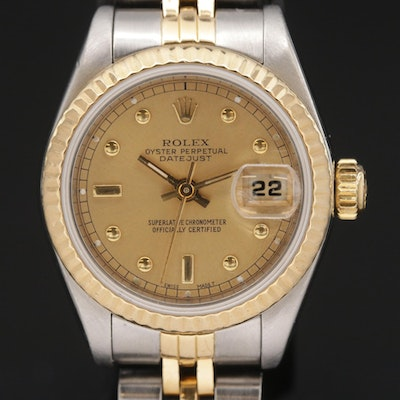 1987 Rolex Datejust 18K Gold and Stainless Steel Automatic Wristwatch
