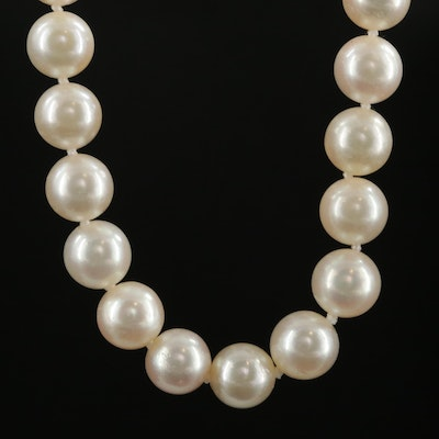 Pearl Necklace with 14K Gold Clasp