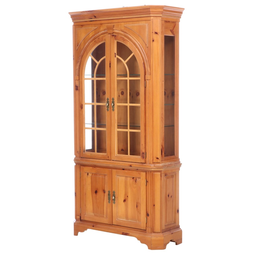 George III Style Pine Cabinet, Late 20th Century
