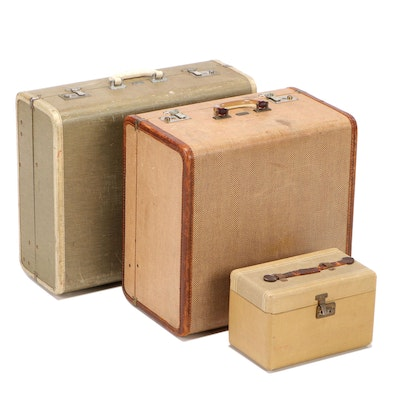 Anchor Brand Travelaire and Durabilt Luggage Suitcases with Train Case