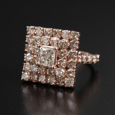 10K Gold 4.79 CTW Diamond Ring