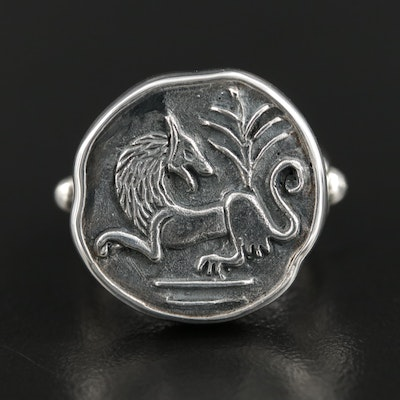 Barry Brinker 950 Silver Animal Motif Ring