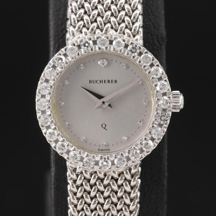 Bucherer 18K Gold and Diamond Quartz Wristwatch