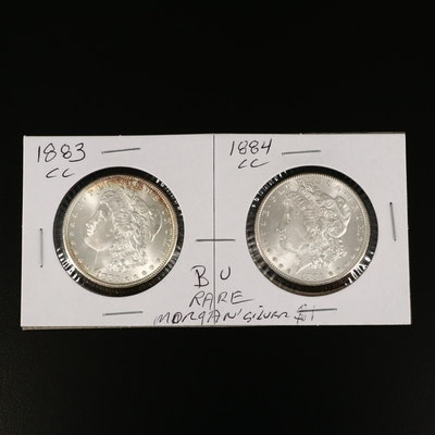 Better Date 1883-CC and 1884-CC Morgan Silver Dollars
