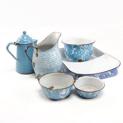 Splatterware Enamel Cookware and Serveware Collection