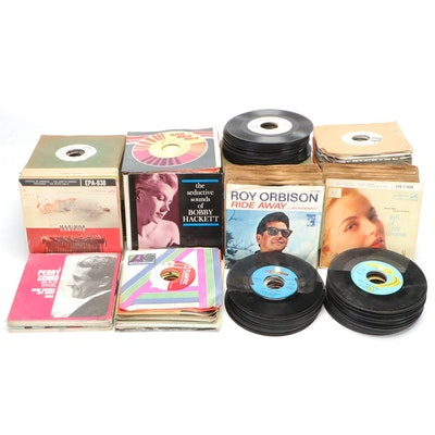 Easy Listening, Jazz, and Other 45 RPM Vinyl Records