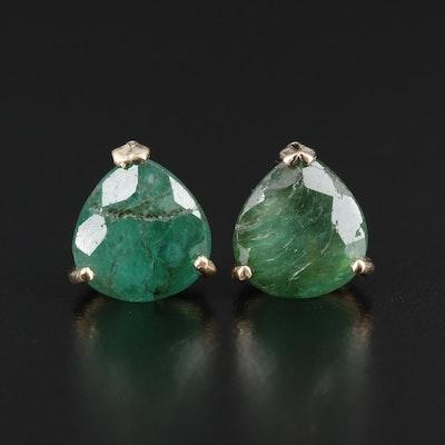 14K Emerald Studs