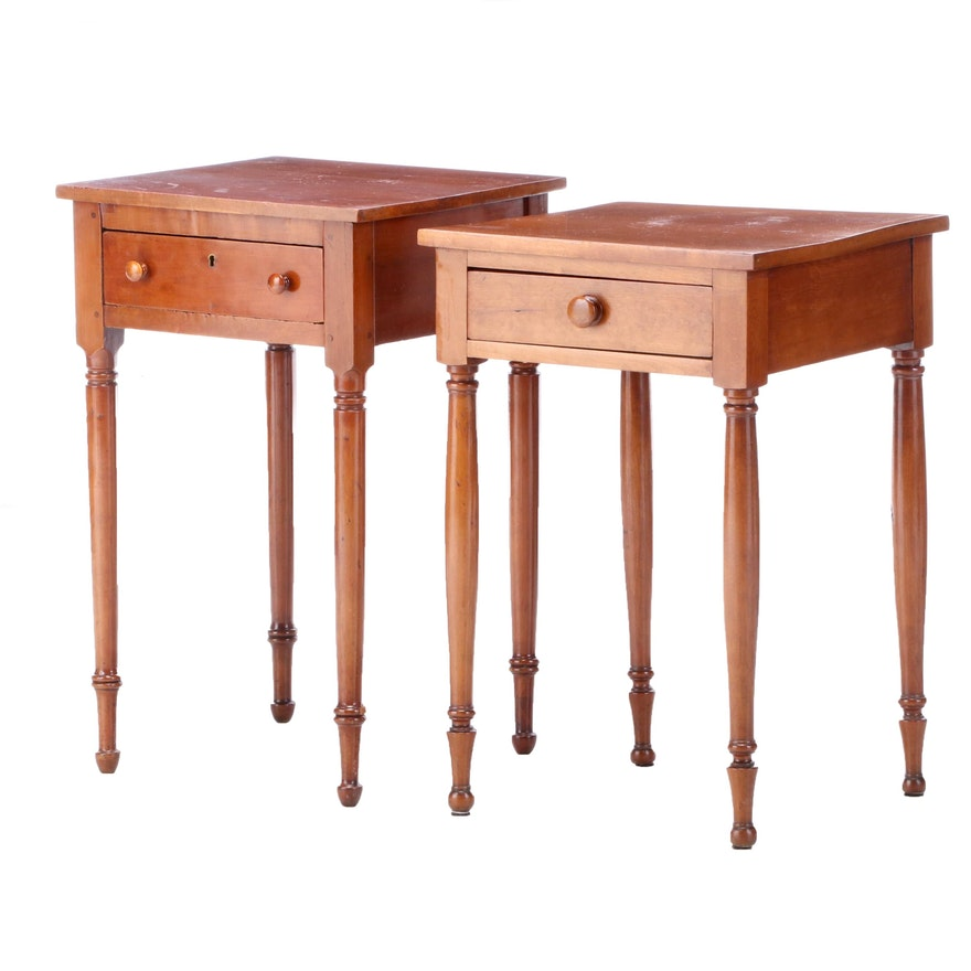 Federal Style Walnut End Tables, Late 19th