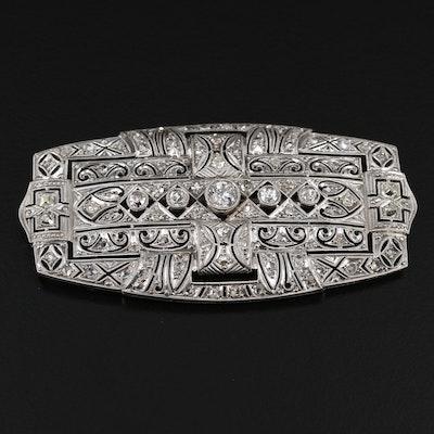 Art Deco Platinum 1.83 CTW Diamond Brooch