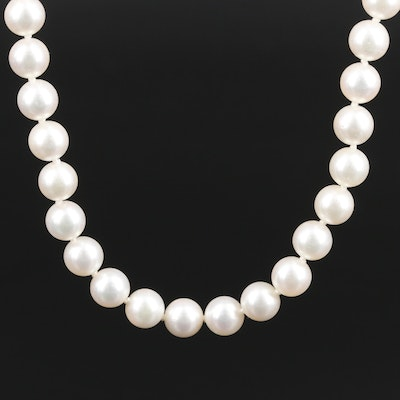 Single Strand of Pearls with 14K Closure