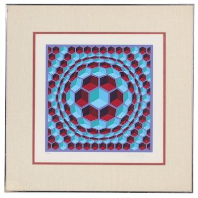 Victor Vasarely Op Art Serigraph