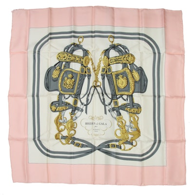 "Hermès Paris ""Brides de Gala"" Silk Scarf Designed by Hugo Grygkar"