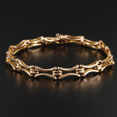 10K Gold Gate Link Bracelet