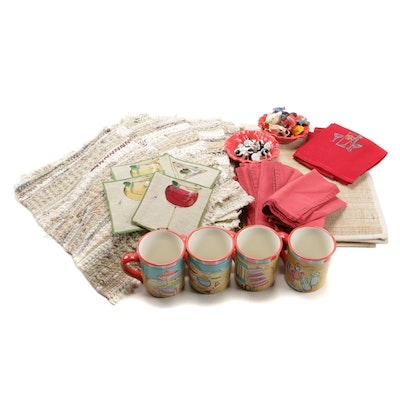 Cow Form Corn Holders with Assorted Table Linens and Accessories