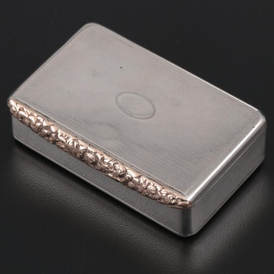George III Sterling Silver Snuff Box, John Linnit, London, England, 1818