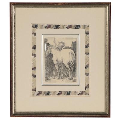 """Photomechanical Print after Albrecht Dürer """"The Large Horse"""""""